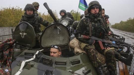 Quân đội Ukraine ở miền Đông. Ảnh: EPA