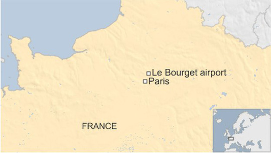 Khu vực đoàn xe hoàng tử Ả Rập Saudi bị cướp. Ảnh: BBC