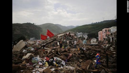 Quang cảnh sau trận động đất. Ảnh: AP