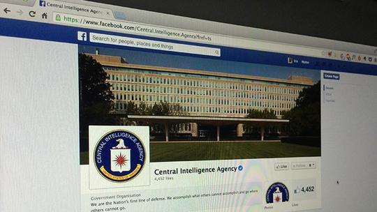 Trang Facebook cá nhân của CIA lập cùng ngày 6-6. Ảnh: RT