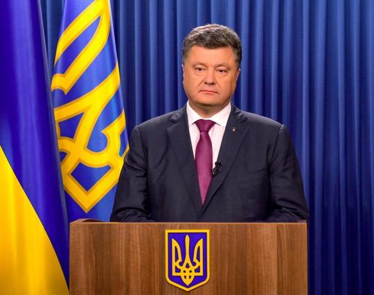 Tổng thống Ukraine Petro Poroshenko. Ảnh: Twitter