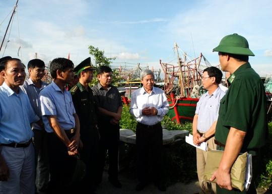 Lãnh đạo TP Hải Phòng kiểm tra công tac phòng chống bão