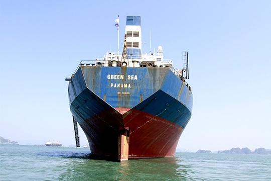 Green Sea là tàu hàng rời thuộc dạng siêu trường, siêu trọng có tuổi đời trên 30 năm (vẫn treo cờ Panama vì không thể đang kiểm tại Việt Nam do quá niên hạn) và đang gần mục nát theo thời gian.