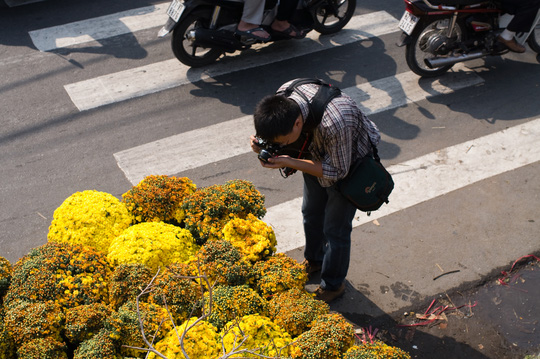 Với tấm áo hoa rực rỡ, các nhiếp ảnh gia cũng tha hồ tác nghiệp, ghi lại những khoảnh khắc đẹp của ngày xuân.