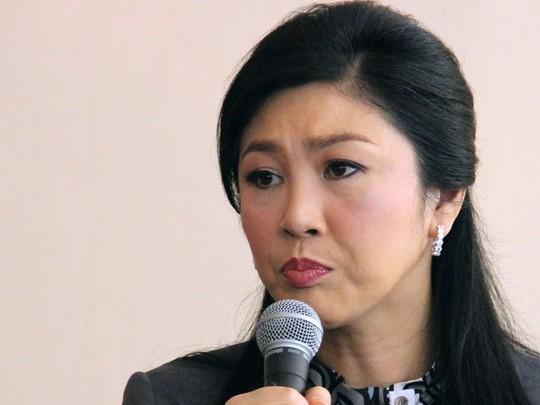 Bà Yingluck tại cuộc họp báo ngày 17-1 tại Bangkok. Ảnh: Tân Hoa Xã