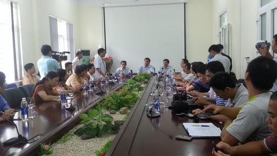 Bộ trưởng Đinh La Thăng chủ trì cuộc họp tại Lào Cai