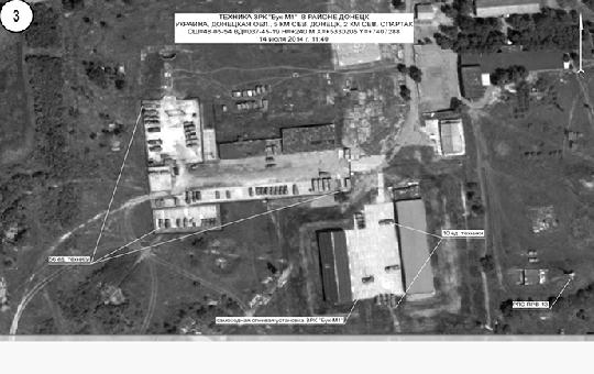 Hình ảnh vệ tinh chụp trạm radar của Ukraine gần nơi máy bay rơi. Ảnh: RT