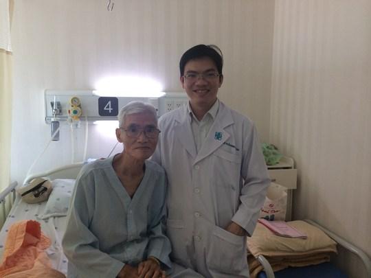 Ông T. sau khi được phẫu thuật can thiệp ngăn nguy cơ vỡ túi phình.