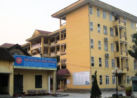 Trung tâm giáo dục thường xuyên Thanh Hóa nơi để xảy ra sự việc trên