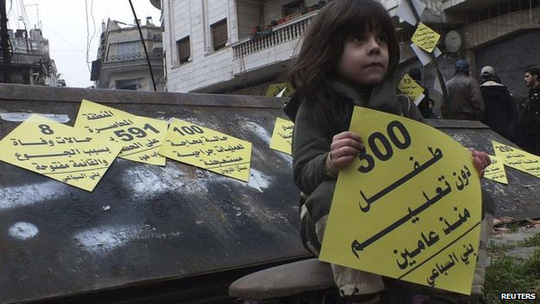 Chiến dịch phơi bày những thống khổ do chiến tranh tại Homs - Syria. Ảnh: Reuters