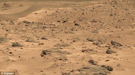 Phát hiện tảng đá giống tượng Tổng thống Obama trên sao Hỏa