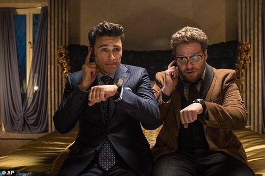 Hai diễn viên trong phim The Interview
