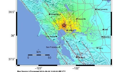 Địa điểm xảy ra động đất. Nguồn: CNN