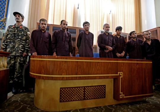 7 bị cáo bị kết án tử hình. Ảnh: AP