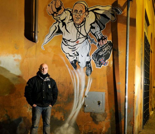 Đây là tác phẩm của họa sĩ đường phố Maupal