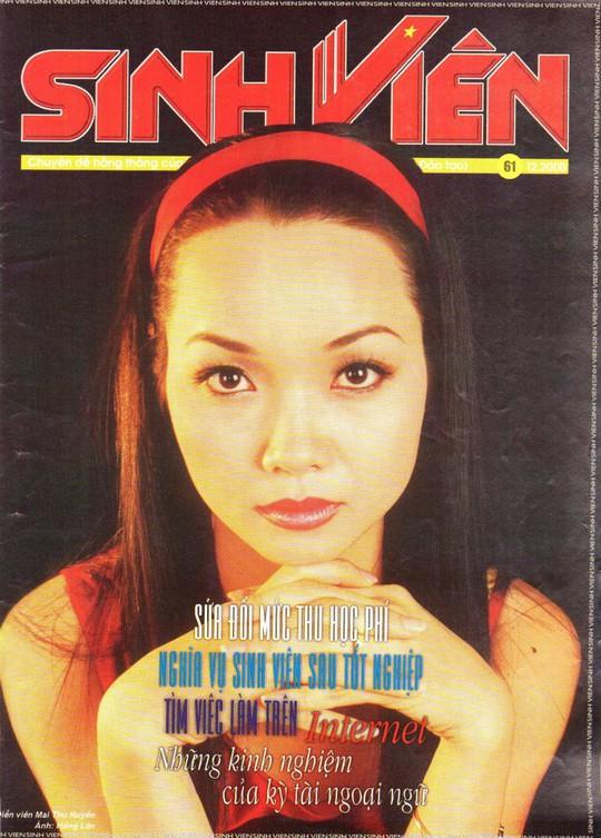 Mai Thu Huyền đẹp trên các bìa báo