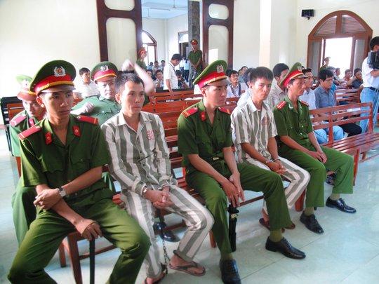 Các bị cáo tại phiên tòa phúc thẩm