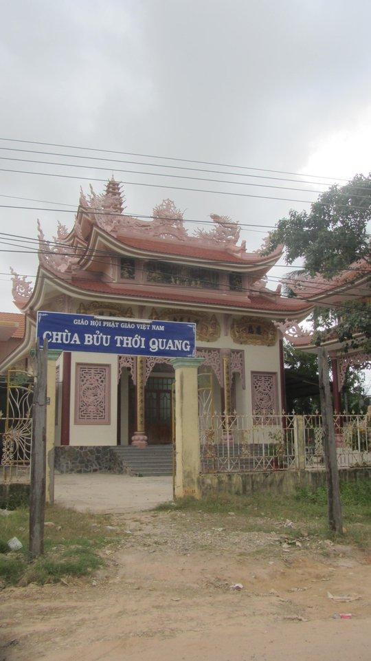 Chùa Bửu Thới Quang, nơi xảy ra vụ trộm