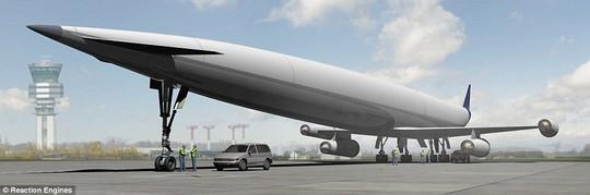 Phiên bản Skylon chở khách Lapcat A2. Ảnh: Reaction Engines