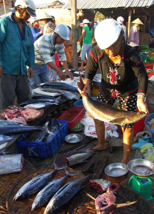 Các loại cá thu, cá ngừ, cá ồ…và nhiều loại cá lớn, nhỏ khác tươi roi rói được bán tại chợ. Phần lớn cá này bắt từ đầm Cù Mông. Một số được đưa ra chợ Xuân Cảnh để bán. Số khác được các đầu nậu thu gom chuyển lên xe cấp đông tỏa đi khắp nơi.
