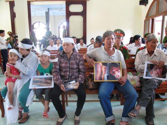 Gia đình người bị hại Ngô Thanh Kiều tại phiên tòa