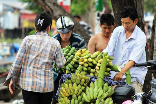 4.Nhiều thương lái đến đây mua để phân phối khắp các chợ tại Sài Gòn.