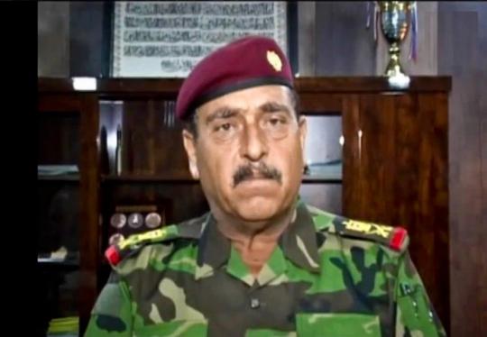 Cảnh sát trưởng tỉnh Anbar Ahmed Saddag. Ảnh: Twitter