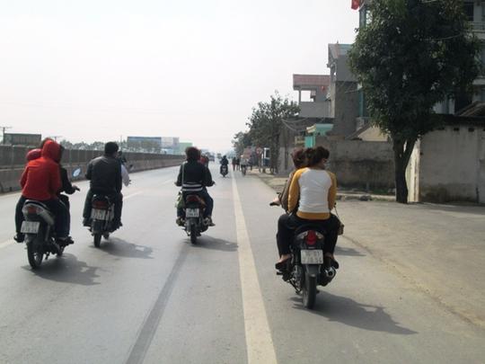 Người tham gia giao thông không đội MBH ở Thanh Hóa trong những ngày Tết