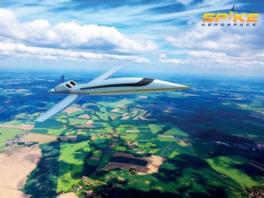 Mô hình máy bay siêu âmSpike S-512 của tập đoànSpike Aerospace. Ảnh:Spike Aerospace