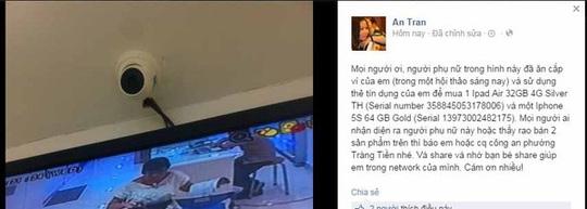 Thông tin trên Facebook của An Tran