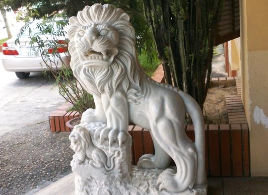 Cận cảnh con sư tử tại trụ sở Sở Y tế Thanh Hóa