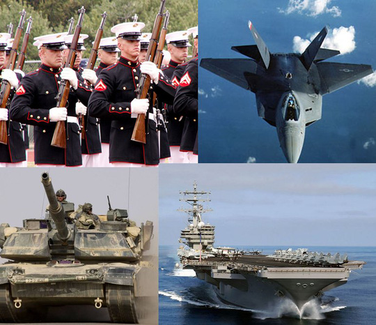 Lực lượng quân đội Mỹ hùng hậu chống lưng cho Nhật Bản. Ảnh: Nairaland