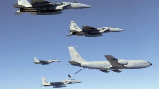 Không quân Mỹ phái thêm 6 chiếc F-15C đến tuần tra các nước ở Baltic gần Nga. Ảnh: US Air Force