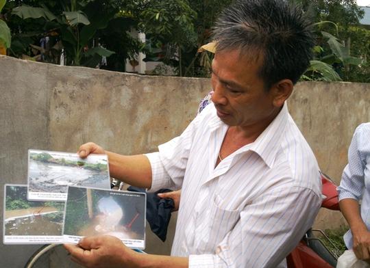Hình ảnh trại lợn xả thải ra môi trường được ông Trịnh Trọng Bảy ghi lại năm 2012