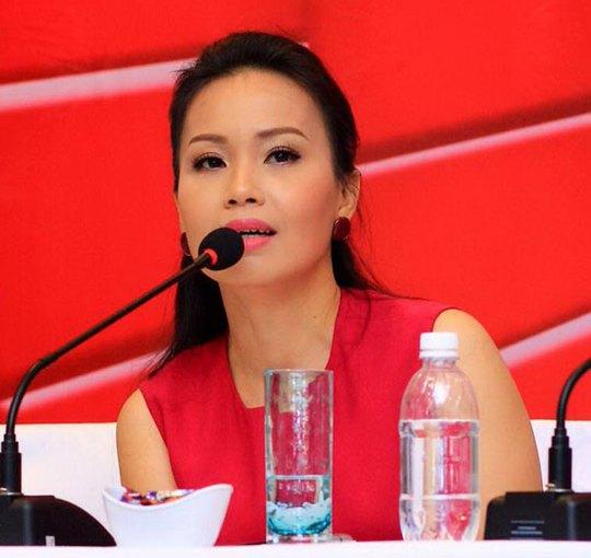Ca sĩ Cẩm Ly - giám khảo Giọng hát Việt nhí mùa thứ 2 -tại buổi họp báo Ảnh: PHẠM THẾ DANH