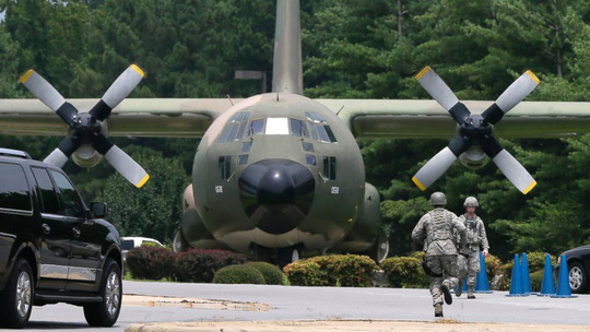 Máy bay chiến đấu C-130. Ảnh: AP
