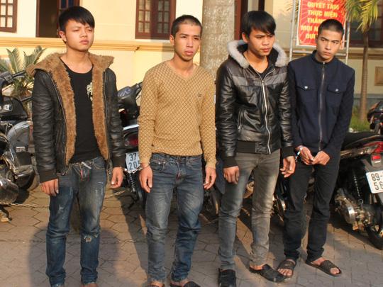 ổ nhóm gây ra 24 vụ trộm xe máy do Nguyễn Sỹ Trung cầm đầu