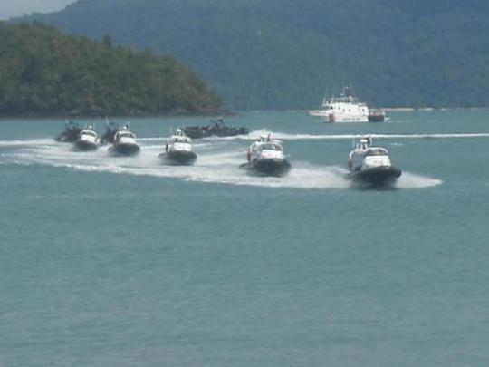 Lực lượng thực thi pháp luật hàng hải Malaysia. Ảnh: UPI