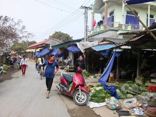 Chợ quê đìu hiu