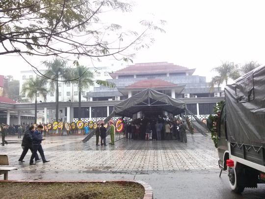 Quang cảnh diễn ra lễ viếng tại Nhà tang lễ Quốc gia