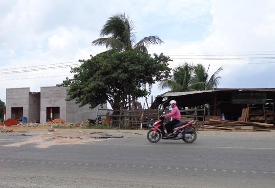 Hiện trường nơi chị Nguyễn Thị Thơ bị tai nạn