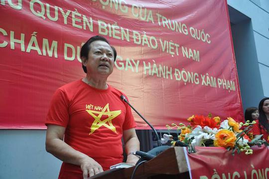 Chủ tịch Hội nghề cá Việt Nam Nguyễn Việt Thắng tuyên bố trong buổi mít-tinh