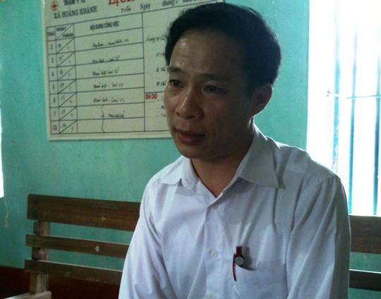 Trưởng trạm Y tế xã Hoằng Khánh Nguyễn Hữu Dũng - người không có giấy phép nhưng vẫn đứng ra tổ chức chữa bệnh tại nhà