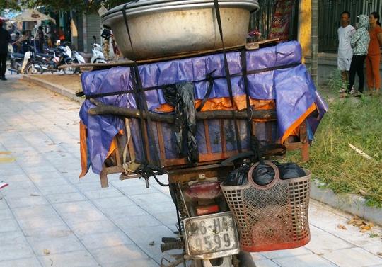 Chiếc xe máy của nạn nhân xấu số
