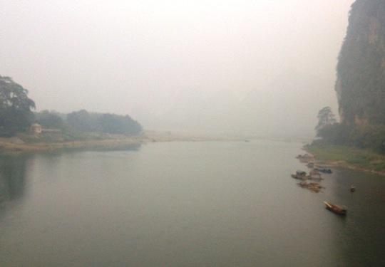 Sông Mã nơi chị T. nhảy xuống cứu bạn nhưng bị nước cuốn trôi dẫn tới tử vong