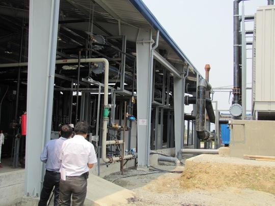 Một góc hệ thống xử lý nhiệt dioxin tại sân bay Đà Nẵng