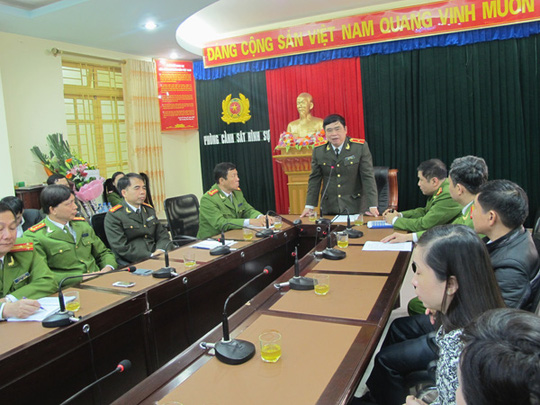Thiếu tướng Đỗ Hữu Ca, Giám đốc Công an TP Hải Phòng, chủ trì cuộc họp báo