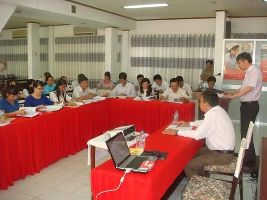 Các học viên tại lớp tập huấn