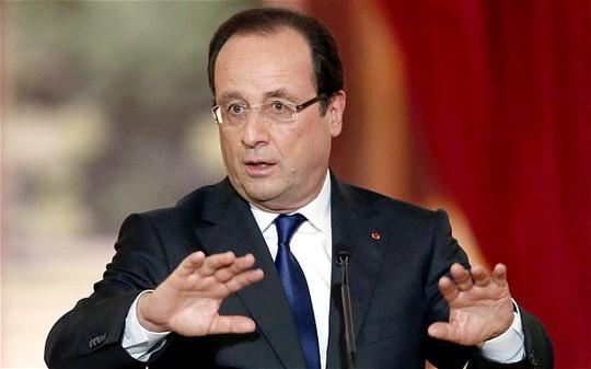 Tổng thống Pháp Francois Hollande. Ảnh: Reuters