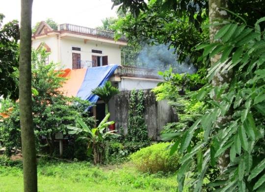 Ngôi nhà nơi người thân phát hiện ông Lai chết trong tư thế treo cổ